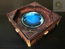wooden dice bowl/arena with decal for warhammer warmachine DND RPG board games