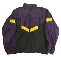 NWT CHAMPS SPORTS WindBreaker Mesh Lined Mens Running Jacket w//Hood-L @$35 BLACK
