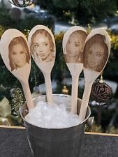 More details for little mix gift wooden spoons personalised engraved kids party