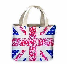 Floral Union Jack Tote Shopping Bag For Life - Flowers