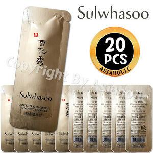 Sulwhasoo Concentrated Ginseng Renewing Cream EX 1ml x 20pcs (20ml) Newist Ver