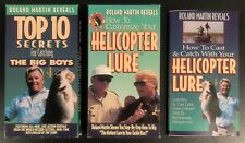 Roland Martin Vhs Lot With Included Booklet - Top 10 Secrets & Helicopter Lure