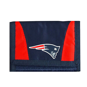 New Licensed Football New England Patriots Wallet Nylon Tri-Fold Chamber Wallet
