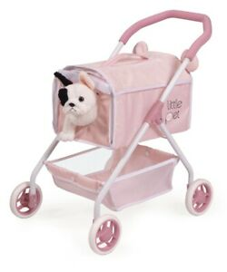 Girls dog pram stroller Toy With Dog Poppy Included