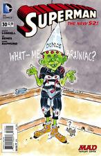 SUPERMAN #30 Variant Mad Magazine BRainiac New 52 Cover DC 1st Print NM to NM+