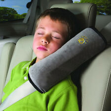 Car Safety Seat Belt Pillow Shoulder Strap Pad Cushions Head Supports Child Kids Grey
