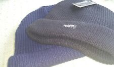 Navy  BEANIE with Cuff Thinsulate insulation rib knit  40 GRAMS