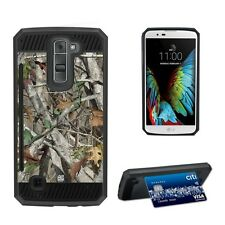 For LG K7 Tribute 5 M1 Treasure Hybrid Card Case Autumn Camouflage