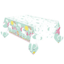 MAGICAL UNICORN Birthday Party Supplies Table Cover Plastic 137cm x 243cm