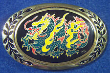 Belt Buckle - Aminco Heritage Buckles Vintage 1982 Solid Brass Serpentine Dragon