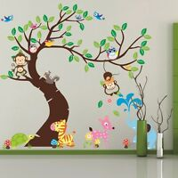 wall stickers elephant owl tree birds monkey zoo baby vinyl decal decor Nursery