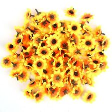 """100 pcs Gerbera Daisy Head Artificial Silk Flower Wedding Craft 1.5""""  Sunflower"""