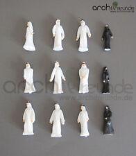 12 x figure modello uomo araba, dipinta a mano, per modellismo 1:100 traccia TT