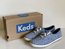 NEW! KEDS CHAMPION BOTANICAL LEAVES CHAMBRAY BLUE SHOES SNEAKERS 8 39 SALE