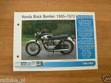 MVE36- HONDA BLACK BOMBER 1965-72 MINI POSTER AND INFO MOTORCYCLE,MOTORRAD