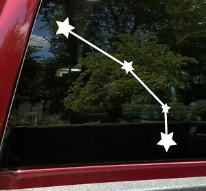Aries Constellation Vinyl Decal - Stars Zodiac Ram Horns - Die Cut Sticker