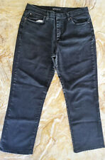 RIDERS by LEE Women's 14 Short STRETCH Black RELAXED Fit STRAIGHT Leg