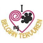 I Heart My Belgian Tervuren Ladies Short-Sleeved T-Shirt 1288-2 Size S - XXL