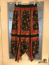 Ladies Clothes Size Small Zara Skirt Asymetric Hem Elasticated Waist (649)