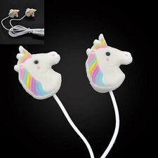 Special Unicorns Cartoon Earphones Colorful Rainbow In-ear Earphone with Mic