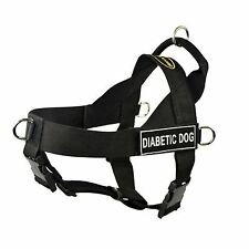 Dean & Tyler Universal No Pull Dog Harness, Diabetic Dog & Blank Patches Small,