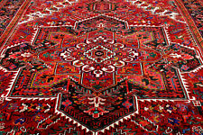 New listing 10X13 1940's Masterpiece Mint Antique Hand Knotted Herizz Geometric Wool Rug