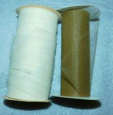 "Pearl Eggshell Gold Tulle Spool Ribbon 6"" Crafts Tutu Party Favor Bridal Wedding"