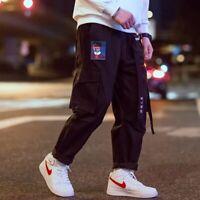 Hip Hop Streetwear Cargo Pants Embroidery Japanese Harajuku Trousers Pants