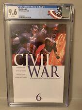 Civil War #6 CGC 9.6 NM+ Captain America Custom Label