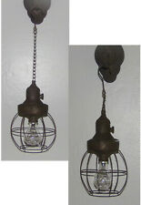 Logan LED Hanging Lamp Lantern Light Rustic Caged Light LED Bulb Included New