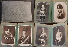 Altes Postkarten Album Adel / Adelshäuser Kaiserreich mit 100 Ansichtskarten