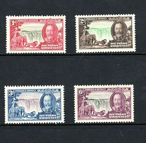 1935 Southern Rhodesia GV Silver Jubilee set of 4 mounted mint