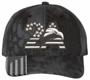 2nd Amendment Embroidered Adjustable Hat 2A Eagle Version - Various Hat Choices
