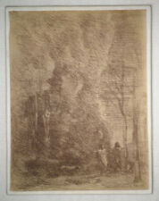 Camille Corot Dante and Virgil (Dante et Virgile), 1858 Framed Etching