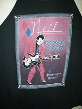 VTG 1983 NEIL YOUNG & THE SHOCKING PINKS EVERYBODYS ROCKIN tour L 50/50 T SHIRT
