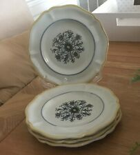 Hall China Flower Dragon Salad or Bread Plates (4)
