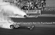 Tom McEwen Yeakel vs Warren Coburn Warren Dragster at Lions Dragstrip 8x12 NHRA