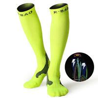 1pair Mens Light Reflective Socks High Tube Night Cycling Marathon Running Dress