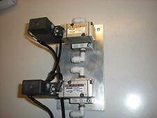 Bank of (2) SMC Model VP344R Solenoid Valves on Plate - 24VDC - Coils Test OK