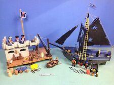(O3112.10) playmobil lot pirates île + bâteau ref 3112 3860