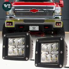 3X3inch Cube Led Light Bar Flood Beam Work Lamp For GMC Sierra Chevy Colorado