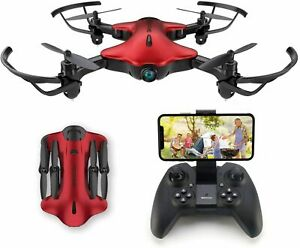 Kids FPV Wi-Fi Drone with Camera 1080P FHD Quadcopter Toy Red One Key Take Off