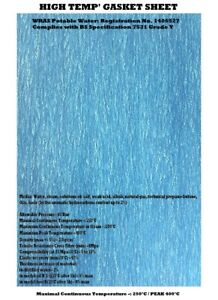 HIGH TEMPERATURE GASKET PAPER SHEET MATERIAL- WATER, OILS, GAS, CHEMICAL SEALANT