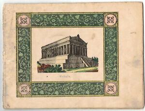 Uraltes Schul Schreibhefte Handschrift 1846 Neugersdorf kolorierte Lithos ! (H4