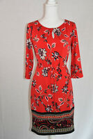Liz Claiborne Women's Cabaret Red Dress Border Design NWT size S
