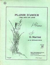 SHEET MUSIC - PLAISIR D'AMOUR (THE JOYS OF LOVE) - MONTAGUE EWING (1932)