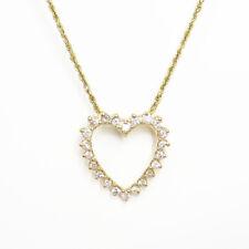 Nyjewel BRANDNEU 14k Gelbgold 1.35ct Diamant Herz Anhänger Halskette
