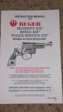 Ruger Security Six, Speed Six, Police Service Six Factory Owners Manual