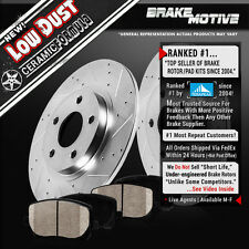 Rear Drilled Slotted Brake Rotors & Ceramic Pads 2009 2010 2011 2012 Audi A4 A5