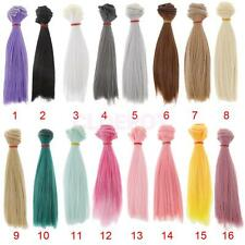 DIY Doll Straight Hair Wig for 1/3 1/4 1/6 BJD SD LUTS Dollfie 16 Colors Choose